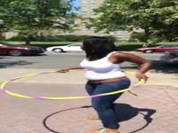 Lady Has SUPER SKILLS with Hoola Hoop