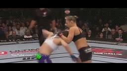 Ronda Rousey vs Alexis Davis Fight UFC 175 16 seconds KO [HD