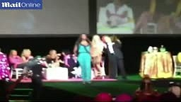 Kenya Moore Falls Off Stage in Vegas | FULL VIDEO