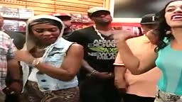 Lesbian Female gets OWNED in Rap Battle!