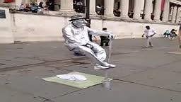 OMG! Street Performer SITS ON AIR!