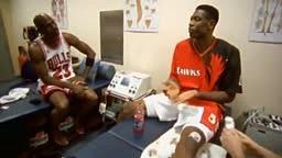 Michael Jordan Dunks on Dikembe Mutombo!!