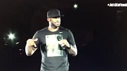 LeBron James Homecoming Rally in Cleveland's University of Akron