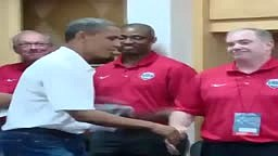 President Obama gives Kevin Durant the Black Man Hand shake