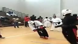 Karate Kick leaves dude KTFO