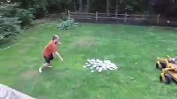 Father destroys son's video games. Dad wins