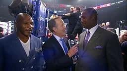 Mike Tyson and Lennox Lewis CHOKE Jim Gray Mayweather vs Maidana 2 Full Fight