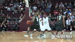 Chris Brown Gets BUCKETS + Dunks & Dancing @ Power106 Celeb BBall Game