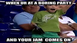 When your at a Boring Party and your jam comes on