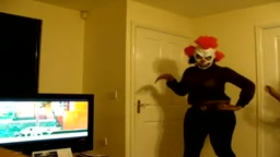 Girl Dressed in Clown Costume BUST HER HEAD on TV Trying Dance like Beyonce