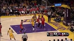 FIGHT! Kobe Bryant vs Dwight Howard - Rockets vs Lakers