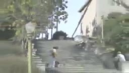 Guy Falls Down Hundreds of Steps Gets Hit By Car and Lives