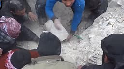 Baby Gets Found Under Rubble