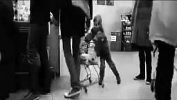Mom lets Little Boy SLAM Man Repeatedly with Shopping Cart