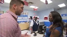 Tim Tebow pays peoples Layaway fees at counter in Orlando Store