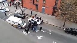 RAW GRAPHIC seconds after 2 Nypd cops Assasinated