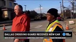 Dallas Crossing Guard Receives NEW Car after old one gets Repossed