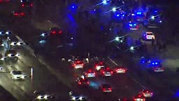 Lake Shore Drive is shut down in both directions because of hundreds of protesters marching against the chokehold death