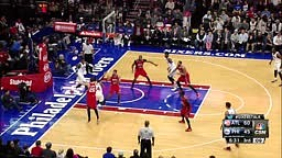 K.J. McDaniels Drives Baseline and Finishes Double-Pump Slam