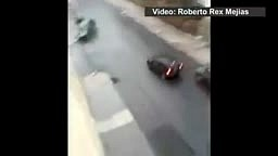 Icy Rodes Makes Car Slides down a steep slope in Yonkers New York