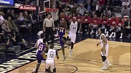 Kobe Bryant Plays Left Handed After Dislocating Right Shoulder Lakers vs Pelicans