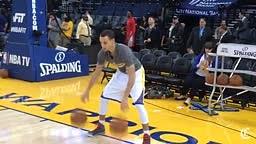 Warriors Stephen Curry Pregame Ball Handling Drills
