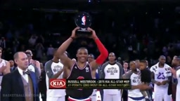 Russell Westbrook Wins MVP Award | West vs East | 2015 NBA All-Star Game