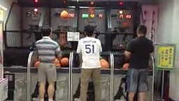 Old Asian Man Scores Almost 500 points in Hot Shot Game
