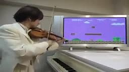 AWESOME! Violinist Plays Super Mario Bros Theme Music