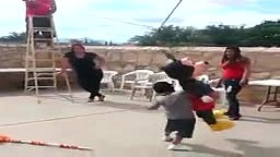 Kid Goes THUG LIFE on a Mickey Mouse Pinata