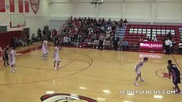 10th grade forward Justise Winslow flattens defender with du