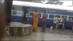 Wow. Indian Woman showing her WWE Skills when a man on the Railway Station harasses her !!Smack Down!! lol