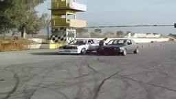 WTF! Guy Drifts 2 cars at ONCE this is SICK!