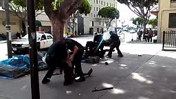 GRAPHIC! Homeless Man Shot and Killed By LA Cops