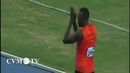 Usain Bolt rocked the stadium earlier in the 4X100M heats at the Gibson McCook Relays