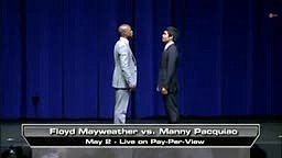Mayweather vs Pacquiao FACE OFF