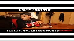 Watching the Floyd Mayweather Fight