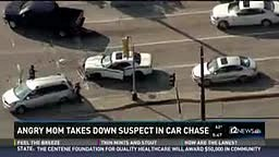 WATCH: ANGRY Mom Takes Down Suspect in Car Chase After getting REAR ENDED with Kids in the Car!