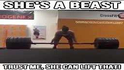 Funny Female Lifting over 500lbs