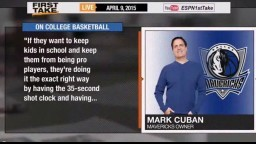 ESPN First Take - Mark Cuban TRASHES College Basketball : 'Worse Than HS, Hideous & Unwatchable'