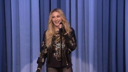 FAIL! Madonna ATTEMPTS Stand Up Comedy on Jimmy Fallon Tonight Show!