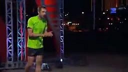 Guy Runs through Obstacle Course Naked