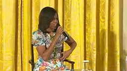 First Lady Michelle Obama Response to young girl asking her how old she is