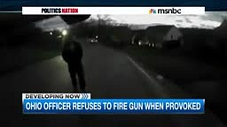 Officer in Ohio Refuses to use gun when provoked