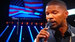 Jamie Foxx Takes Em to CHURCH Performs the National Anthem Floyd Mayweather vs Manny Pacquiao