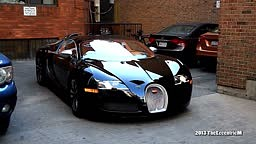 WATCH: Rapper Drake Stunt His  Bugatti Veyron Sang Noir in the Streets of Toronto Yorkville