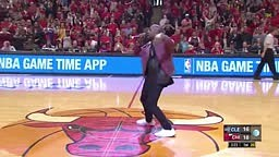 Kanye West Performs All Day During Timeout  Cavs vs Bulls Game 4