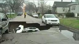 Storms have done some damage in Chicago. Check out this video of a sinkhole