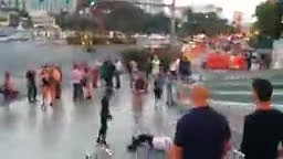 dude gets ‪#‎KnockedOut‬ twice for ‪#‎harassing‬ & trying to ‪#‎Fight‬ this guy that's clearly trying to walk away from