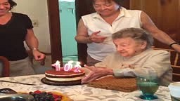 WATCH: Granny Tries To Blow Out Her Birthday Candles, But Blows Out Her Dentures Instead